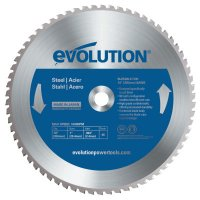 Evolution TCT Metal-Cutting Blades - TCT Metal-Cutting Blades, 14 in, 1 in Arbor, 1,600 rpm, 66 Teeth - Evolution - 510-14BLADEST
