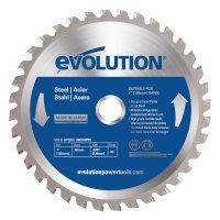 Evolution TCT Metal-Cutting Blades - TCT Metal-Cutting Blades, 7 in, 20 mm Arbor, 3,900 rpm, 36 Teeth - Evolution - 510-180BLADEST