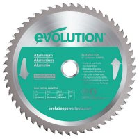 Evolution TCT Metal-Cutting Blades - TCT Metal-Cutting Blades, 9 in, 1 in Arbor, 3,000 rpm, 48 Teeth - Evolution - 510-230BLADE-ST
