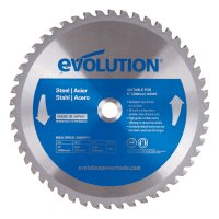 Evolution TCT Metal-Cutting Blades - TCT Metal-Cutting Blades, 8 in, 5/8 in Arbor, 5,800 rpm, 50 Teeth - Evolution - 510-8BLADEMS