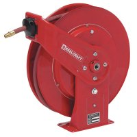 Reelcraft Heavy Duty Spring Retractable Hose Reels - Heavy Duty Spring Retractable Hose Reels, 3/8 in x 50 ft - 523-7650OLP - Reelcraft