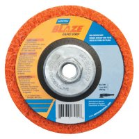 Norton Blaze Rapid Strip Depressed Center Discs - Blaze Rapid Strip Depressed Center Discs, 4 1/2 in, 12,000 rpm, Orange - 547-66254498101 - Norton