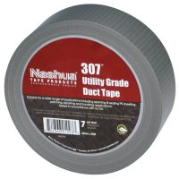 Nashua® 307 Utility Grade Duct Tapes - 307 Utility Grade Duct Tapes, Silver, 48 mm x 55 m x 7 mil - 573-1087239 - Berry Global