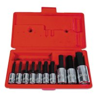 Proto® 10 Piece Hex Bit Socket Sets - 10 Piece Hex Bit Socket Sets, 3/8 in-1/2 in, SAE, w/Box - 577-4900A - Stanley® Products