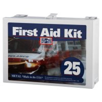 First Aid Only® 25 Person Industrial First Aid Kits - 25 Person Industrial First Aid Kits, Steel (non-gasketed), Wall Mount - First Aid Only® - 579-6086