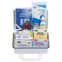 First Aid Only® 10 Person ANSI Plus First Aid Kits - 10 Person ANSI Plus First Aid Kits, Weatherproof Plastic, Wall Mount - First Aid Only® - 579-6410