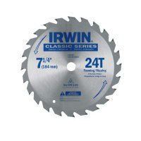 Irwin® Carbide-Tipped Circular Saw Blades - Carbide-Tipped Circular Saw Blades, 7 1/4 in, 24 Teeth - Stanley® Products - 585-25130