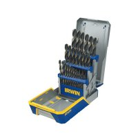 Irwin® 29-pc Black and Gold Metal Index Drill Bit Sets - 29-pc Black and Gold Metal Index Drill Bit Sets, 1/16 in - 1/2 in Cut Dia. - Stanley® Products - 585-3018005