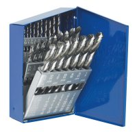 Irwin® High Speed Steel Drill Bit Sets - High Speed Steel Drill Bit Sets, 1/16 in - 1/2 in Cut Dia., Metal Case, 29/Set - Stanley® Products - 585-60138