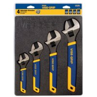 Irwin Vise-Grip® 4-pc Adjustable Wrench Tray Sets - 4-pc Adjustable Wrench Tray Sets, 6/8/10/12 in Adj Wrench, Tray - 586-2078706 - Stanley® Products