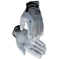 Caiman M.A.G.™ Gray Deerskin Mechanics Gloves - M.A.G. Gray Genuine American Deerskin Mechanics Glove, X-Large, Gray/Black - Caiman - 607-2970-XL