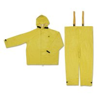MCR Safety Hydroblast Suit Jackets with Attached Hoods & Bib Pants - Hydroblast Suit Jackets with Attached Hoods and Bib Pants, 0.35 mm, 2X-Large - 611-8402X2 - MCR Safety