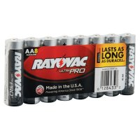 Rayovac Maximum® Alkaline Shrink Pack Batteries - Maximum Alkaline Shrink Pack Batteries, 1.5 V, AA - 620-ALAA-8J - Rayovac
