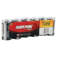 Rayovac Maximum® Alkaline Shrink Pack Batteries - Maximum Alkaline Shrink Pack Batteries, 1.5 V, C - 620-ALC-6J - Rayovac