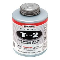 Rectorseal T Plus 2® Pipe Thread Sealants - T Plus 2 Pipe Thread Sealants, 1 Pint Can, White - 622-23431 - Rectorseal