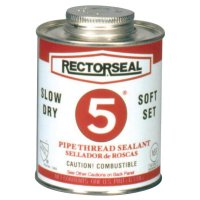 Rectorseal No. 5® Pipe Thread Sealants - No. 5 Pipe Thread Sealants, 1 Quart Can, Yellow - 622-25300 - Rectorseal