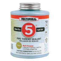 Rectorseal No. 5® Pipe Thread Sealants - No. 5 Pipe Thread Sealants, 1 Pint Can, Yellow - 622-25431 - Rectorseal