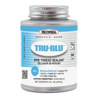 Rectorseal Tru-Blu™ Pipe Thread Sealants - Tru-Blu Pipe Thread Sealants, 1/2 Pint Can, Blue - 622-31551 - Rectorseal