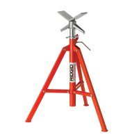 Ridgid® V-Head Pipe Stands - VJ-99 V-Head High Pipe Stand, 28 in to 52 in High - 632-56662 - Ridge Tool Company