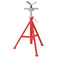 Ridgid® V-Head Pipe Stands - VJ-98 V-Head Low Pipe Stand, 20 in to 38 in High - 632-56657 - Ridge Tool Company