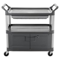 Rubbermaid Commercial Carts - Carts, 300 lb, 40 5/8 X 20 X 37 13/16h, Gray - Newell Rubbermaid™ - 640-4094-GRAY