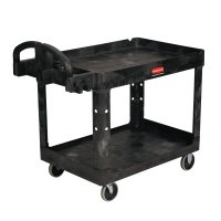 Rubbermaid Commercial Utility Carts - Utility Carts, 500 lb, 45 1/4 X 25 7/8 X 33 1/4h, Black - 640-4520-88-BLA - Newell Rubbermaid™