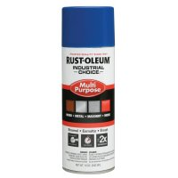 Rust-Oleum® Industrial Choice 1600 System Enamel Aerosols - Industrial Choice 1600 System Enamel Aerosols, 12 oz, Safety Blue, High-Gloss - 647-1624830 - Rust-Oleum® Industrial