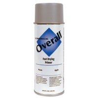Rust-Oleum® Overall® Economical Fast Drying Enamel Aerosols - Overall Economical Fast Drying Enamel Aerosols, 10 oz, Sandable Gray Primer - 647-V2401830 - Rust-Oleum® Industrial