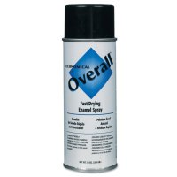 Rust-Oleum® Overall® Economical Fast Drying Enamel Aerosols - Overall Economical Fast Drying Enamel Aerosols, 10 oz Aerosol Can, Gloss Black - 647-V2402830 - Rust-Oleum® Industrial