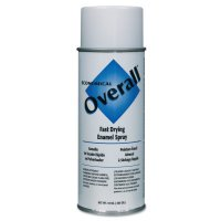 Rust-Oleum® Overall® Economical Fast Drying Enamel Aerosols - Overall Economical Fast Drying Enamel Aerosols, 10 oz Aerosol Can, Gloss White - 647-V2403830 - Rust-Oleum® Industrial