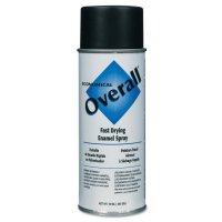 Rust-Oleum® Overall® Economical Fast Drying Enamel Aerosols - Overall Economical Fast Drying Enamel Aerosols, 10 oz Aerosol Can, Flat Black - 647-V2404830 - Rust-Oleum® Industrial