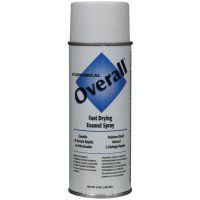 Rust-Oleum® Overall® Economical Fast Drying Enamel Aerosols - Overall Economical Fast Drying Enamel Aerosols, 10 oz Aerosol Can, Flat White - Rust-Oleum® Industrial - 647-V2405830