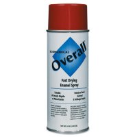 Rust-Oleum® Overall® Economical Fast Drying Enamel Aerosols - Overall Economical Fast Drying Enamel Aerosols, 10 oz Aerosol Can, Gloss Red - 647-V2407830 - Rust-Oleum® Industrial