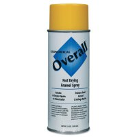 Rust-Oleum® Overall® Economical Fast Drying Enamel Aerosols - Overall Economical Fast Drying Enamel Aerosols, 10 oz Aerosol Can, Gloss Yellow - 647-V2409830 - Rust-Oleum® Industrial