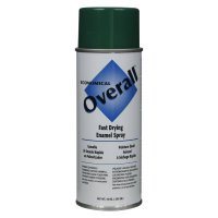 Rust-Oleum® Overall® Economical Fast Drying Enamel Aerosols - Overall Economical Fast Drying Enamel Aerosols, 10 oz Aerosol Can, Gloss Green - Rust-Oleum® Industrial - 647-V2410830