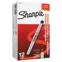 Sharpie® Ultra Fine Tip Permanent Markers - Permanent Markers, Black, Ultra Fine Point - 652-37001 - Sharpie®