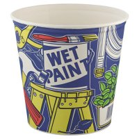 Solo® Double-Wrapped Paper Buckets - Double-Wrapped Paper Buckets, 165 oz, White - 670-10T1UU - Solo®