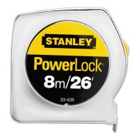 "Stanley® Powerlock® Tape Rules Wide Blade - Powerlock® Tape Rules 1"" Wide Blade, 1 in x 8m/26 ft - 680-33-428 - Stanley® Products"