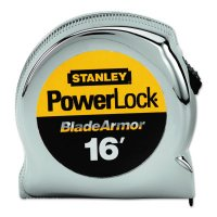 "Stanley® Powerlock® Tape Rules 1"" Wide Blade w/BladeArmor™ - Powerlock® Tape Rules 1"" Wide Blade w/BladeArmor™, 1 in x 16 ft - 680-33-516 - Stanley® Products"