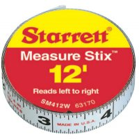 "L.S. Starrett Measure Stix™ Steel Measuring Tapes - SM412W 1/2""X12' MEASURE - 681-63170 - L.S. Starrett"