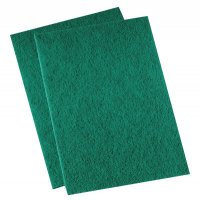 Boardwalk Pads Medium-Duty Scour Pads - MED DUTY SCRUBBER THI  - GREEN - 721-196 - Boardwalk