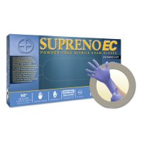 Microflex Supreno® EC SEC-375 Nitrile Exam Gloves - Supreno EC SEC-375 Nitrile Exam Gloves, Beaded, Large, Violet Blue - Ansell - 748-SEC-375-L