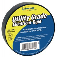 Intertape Polymer Group General Purpose Vinyl Electrical Tapes - General Purpose Vinyl Electrical Tapes, 60 ft x 3/4 in, Black - 761-602 - Intertape Polymer Group