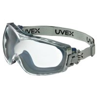 Honeywell Uvex™ Stealth® OTG Goggles - Stealth OTG Goggles, Clear/Navy, Dura-Streme Coating, Fabric Strap - 763-S3970DF - Honeywell
