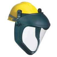 Honeywell Uvex™ Bionic® Face Shield with Hard Hat Adapter - Bionic Face Shield with Hard Hat Adapter, Clear/Black - 763-S8505 - Honeywell