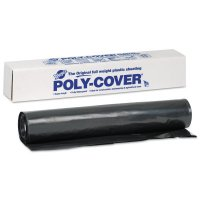 Warp Brothers Poly-Cover Plastic Sheets - Poly-Cover Plastic Sheets, 6 Mil, 20 x 100, Black - 795-6X20-B - Warp Brothers
