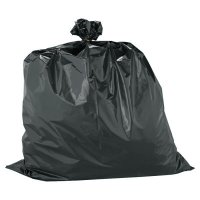 Warp Brothers Trash Can Liners - Trash Can Liners, 33 gal, 2.5 mil, 33 X 40, Black - Warp Brothers - 795-HB33-60