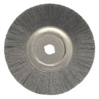 Weiler® Narrow Face Crimped Wire Wheels - Narrow Face Crimped Wire Wheel, 12 in D, .006 Steel, 1 1/4 in Arbor - 804-01299 - Weiler®