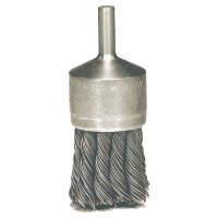 """Weiler® Knot Wire End Brush - Hollow-End Knot Wire End Brush, Stainless Steel, 22,000 rpm, 3/4"""" x 0.014"""" - 804-10029 - Weiler®"""