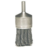 """Weiler® Knot Wire End Brush - Hollow-End Knot Wire End Brush, Steel, 22,000 rpm, 1 1/8"""" x 0.02"""" - 804-10028 - Weiler®"""
